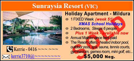 Sunraysia Resort - $5000 - SOLD