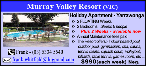 Murray Valley Resort - $990