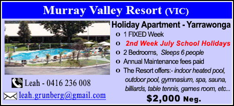 Murray Valley Resort - $2000