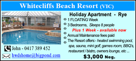 Whitecliffs Beach Resort - $4500
