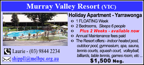 Murray Valley Resort - $1500