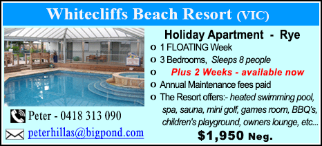 Whitecliffs Beach Resort - $1950