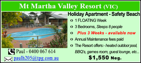 Mt Martha Valley Resort - $1550