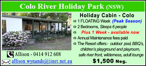 Colo River Holiday Park - $1500