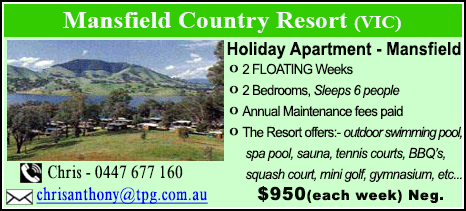 Mansfield Country Resort - $950