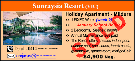 Sunraysia Resort - $4900 - SOLD