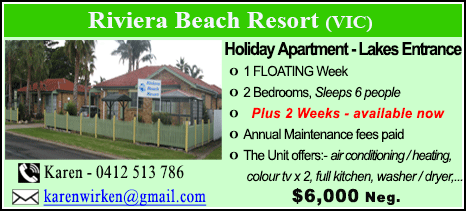 Riviera Beach Resort - $6000