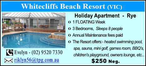 Whitecliffs Beach Resort - $900