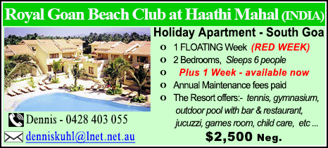 Royal Goan Beach Club at Haathi Mahal - $2500