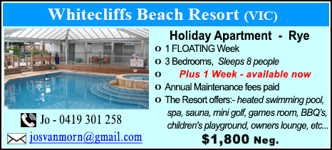 Whitecliffs Beach Resort - $1800