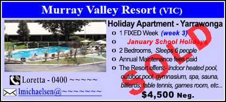 Murray Valley Resort - $4500 - SOLD