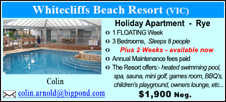 Whitecliffs Beach Resort - $1900