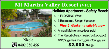 Mt Martha Valley Resort - $2000