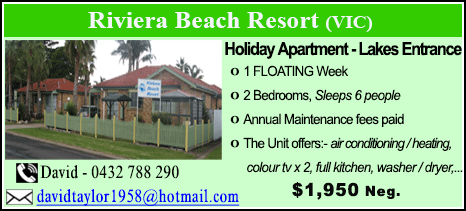 Riviera Beach Resort - $1950