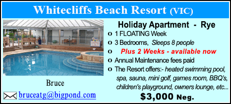 Whitecliffs Beach Resort - $3000