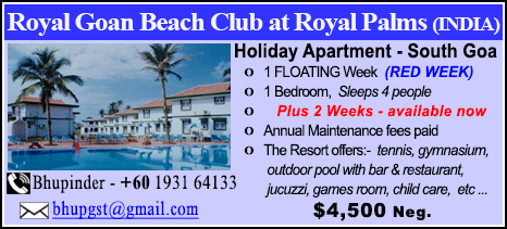 Royal Goan Beach Club - $4500