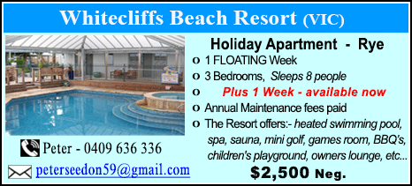 Whitecliffs Beach Resort - $2500