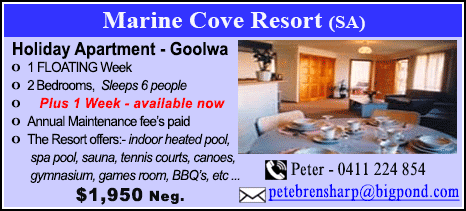 Marine Cove Resort - $1950