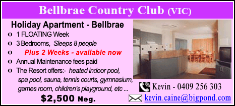 Bellbrae County Club - $2500