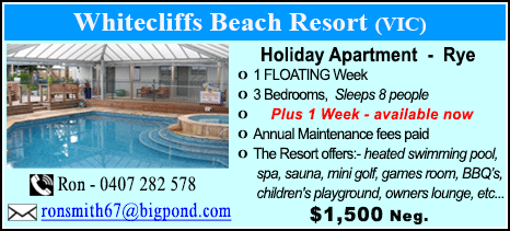 Whitecliffs Beach Resort - $1500