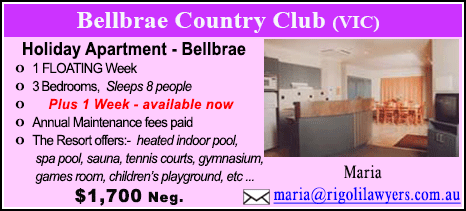 Bellbrae County Club - $1700