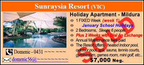 Sunraysia Resort - $7000 - SOLD