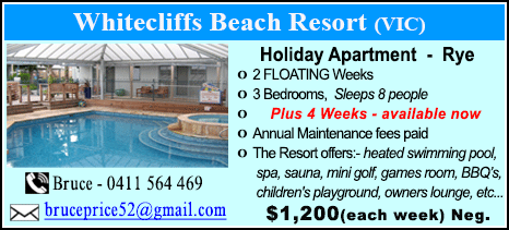 Whitecliffs Beach Resort - $1200