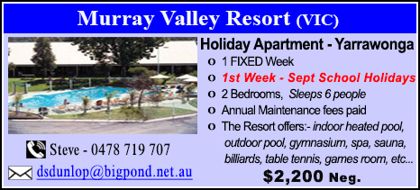 Murray Valley Resort - $2200
