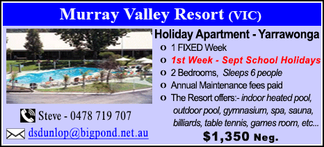 Murray Valley Resort - $1350