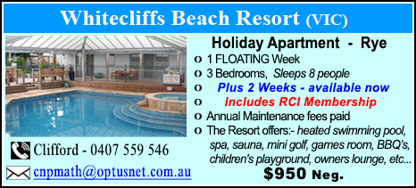 Whitecliffs Beach Resort - $950