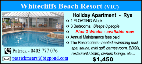 Whitecliffs Beach Resort - $1450