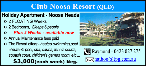 Club Noosa Resort - $3000