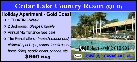 Cedar Lake Country Resort - $600