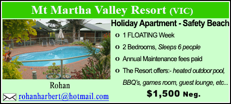 Mt Martha Valley Resort - $1500