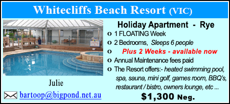 Whitecliffs Beach Resort - $1300