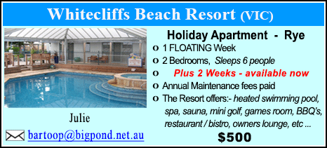 Whitecliffs Beach Resort - $500