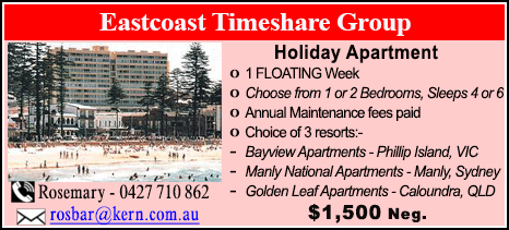Eastcoast Timeshare Group - $1500