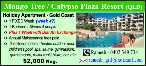 Mango Tree / Calypso Plaza Resort - $2000