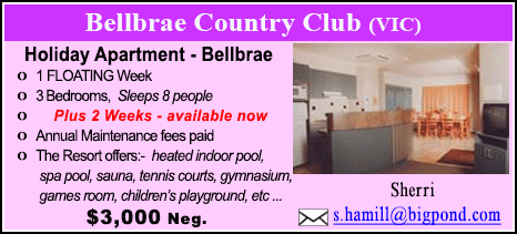 Bellbrae County Club - $3000