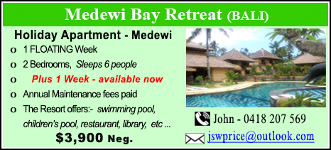 Medewi Bay Retreat - $3900
