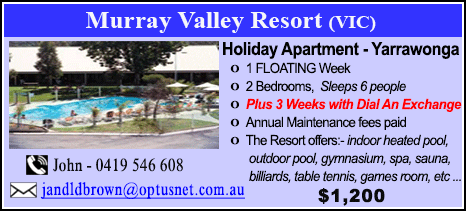 Murray Valley Resort - $1200