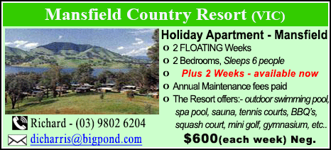 Mansfield Country Resort - $600