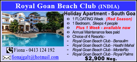 Royal Goan Beach Club  - $2900