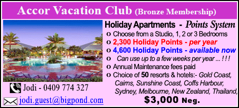 Accor Vacation Club - $3000