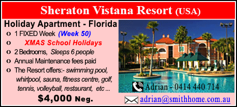 Sheraton Vistana Resort  - $4000