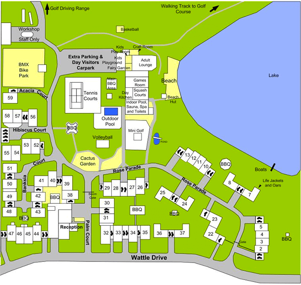 Resort Layout - Lakeside Country Club, Numurkah