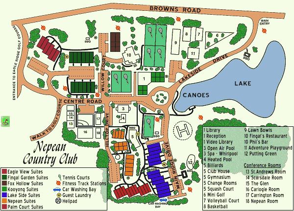 Resort Layout - Nepean Country Club, Rosebud