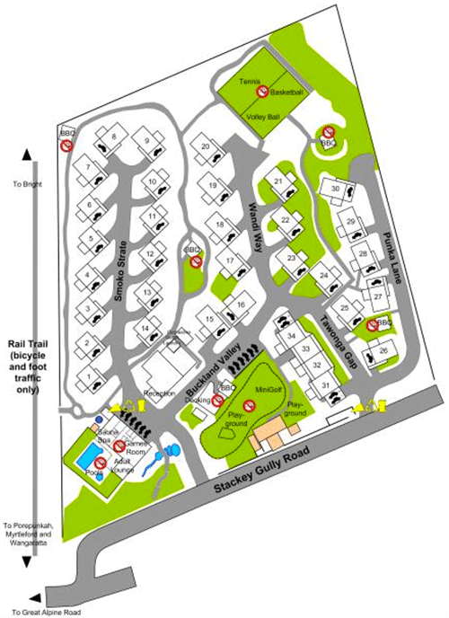 Resort Layout - The Bright Resort, Bright